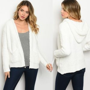 Fuzzy Ivory Sweater